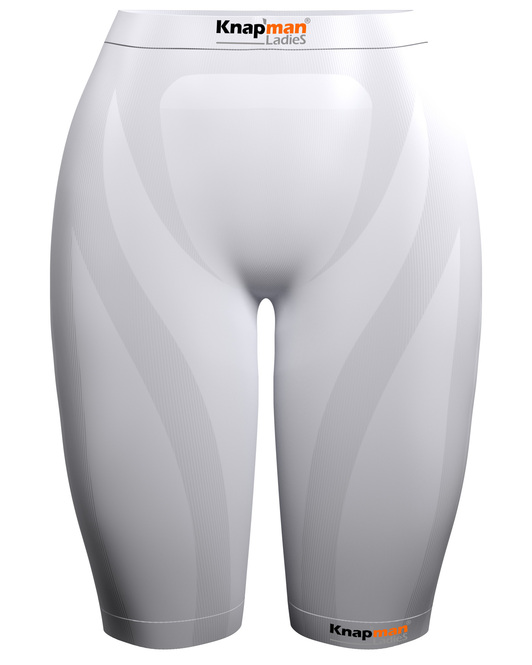 Knap'man Ladies Zoned Compression Short 45% white