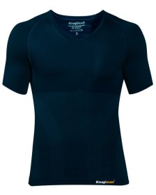 Knap'man UltraThin compression shirt v-neck navy blue